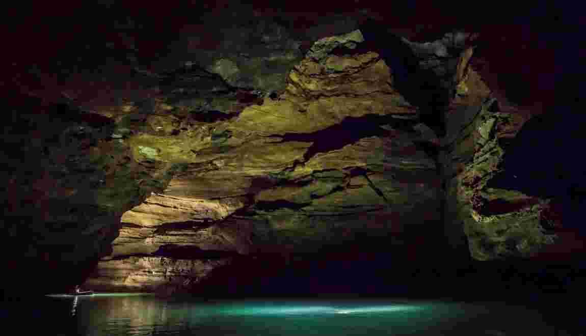 PHOTOS - Padirac : expédition dans un gouffre qui n'a pas livré tous ses secrets