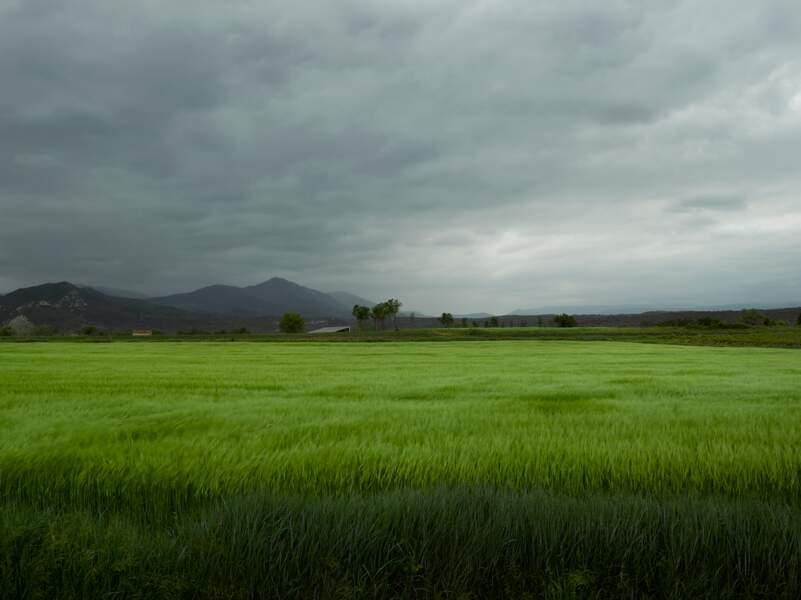 Sur la D104, au niveau du village de Berrias