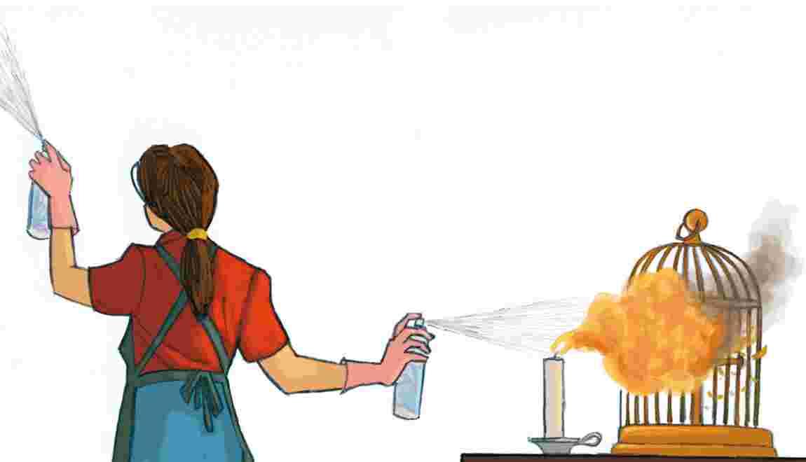 Parfumez  votre maison  sans danger