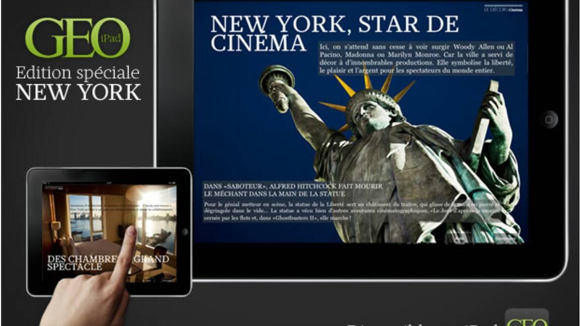 Partez à la découverte de New York, avec la nouvelle édition de GEO sur l'iPad