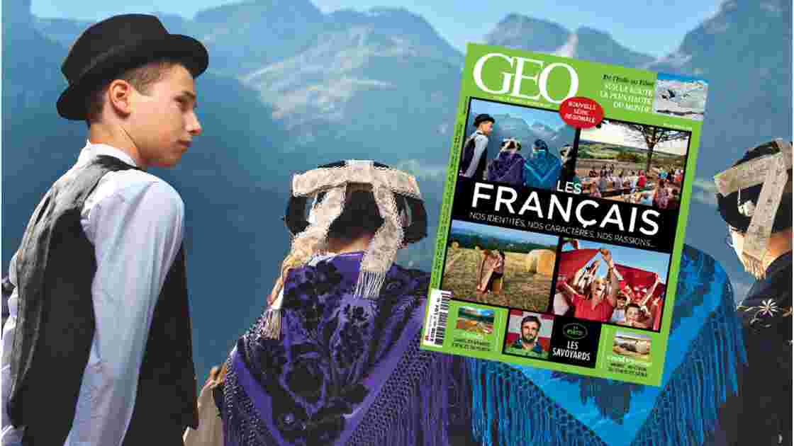 """""""Les Français : Nos identités, nos caractères, nos passions"""", à la une du magazine GEO n°420 (février 2014)"""