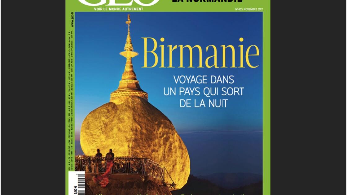 Magazine GEO - Spécial Birmanie (novembre 2012)