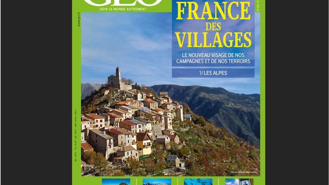 Magazine GEO - Février 2012 : La France des villages / Les Alpes