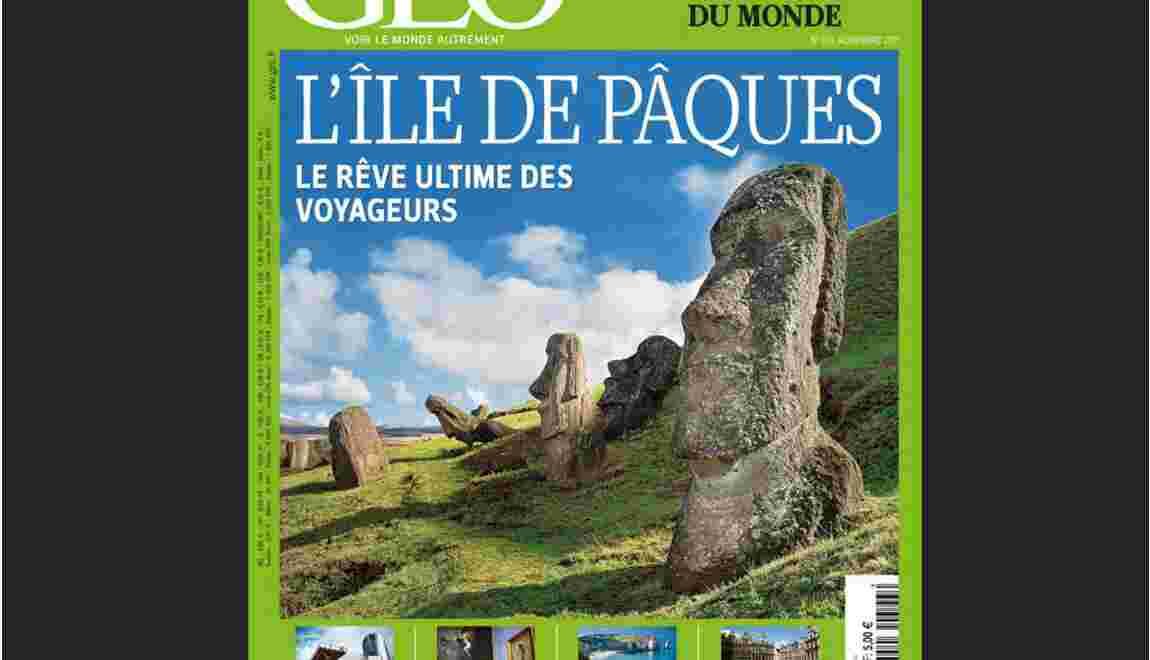Magazine GEO Novembre 2011 : Île de Pâques (n°393)