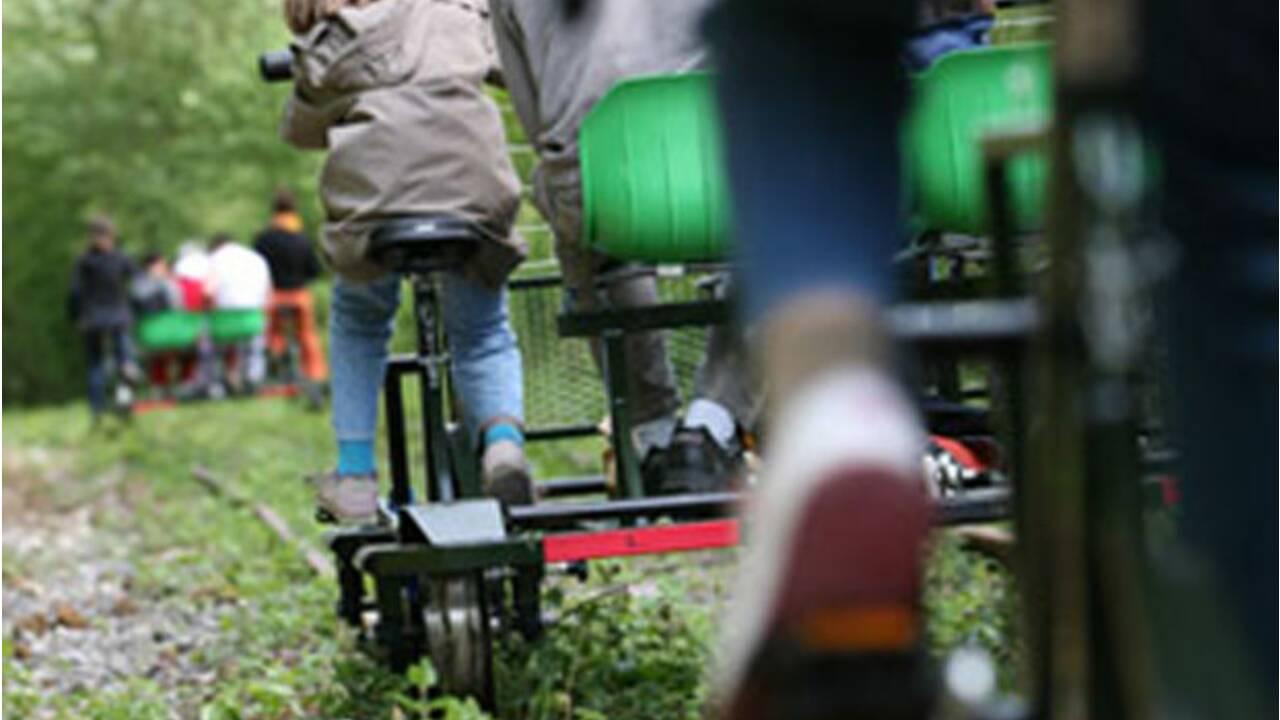 Balade en vélo-rail à travers la Brie
