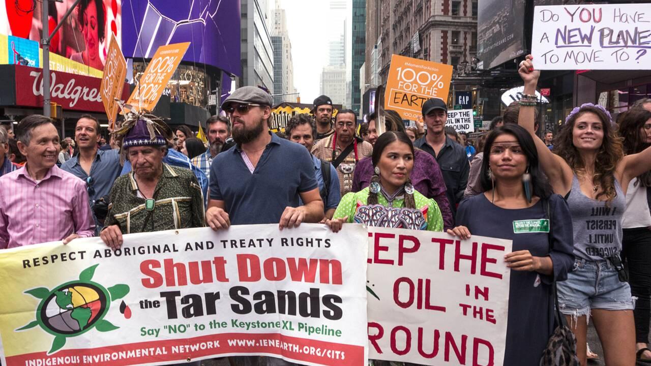Une marche mondiale pour le climat 100 jours après l'investiture de Trump
