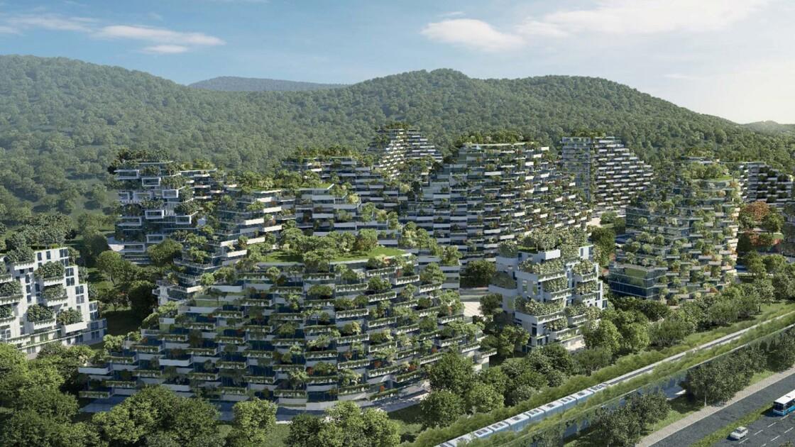 """Une """"ville-forêt"""" : l'incroyable projet pour lutter contre la pollution de l'air en Chine"""