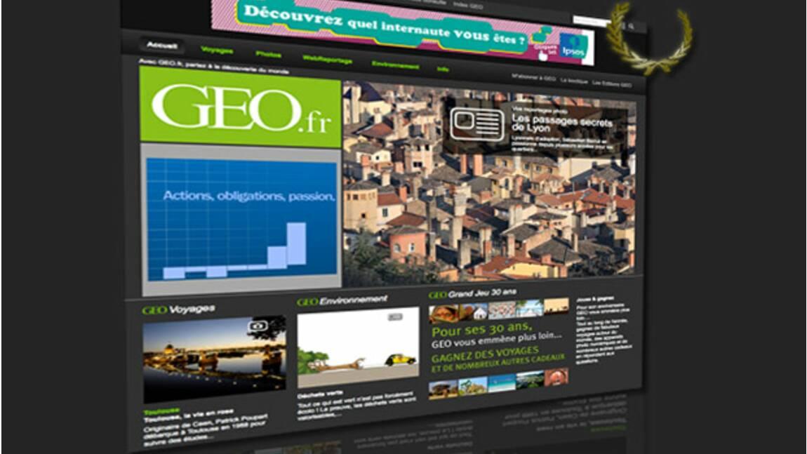 GEO.fr élu meilleur site internet de magazine 2009