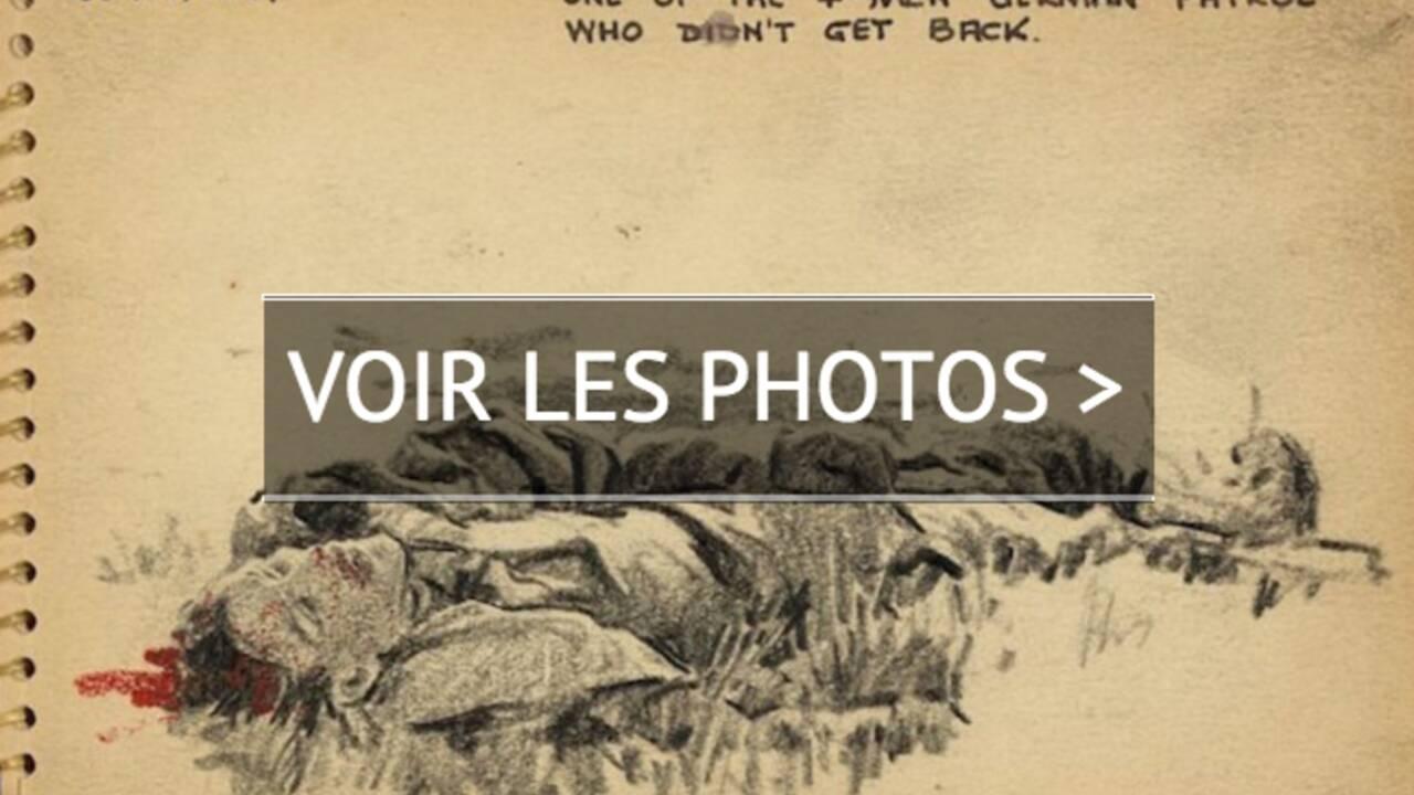 PHOTOS - Les croquis émouvants d'un jeune soldat de la Seconde Guerre mondiale
