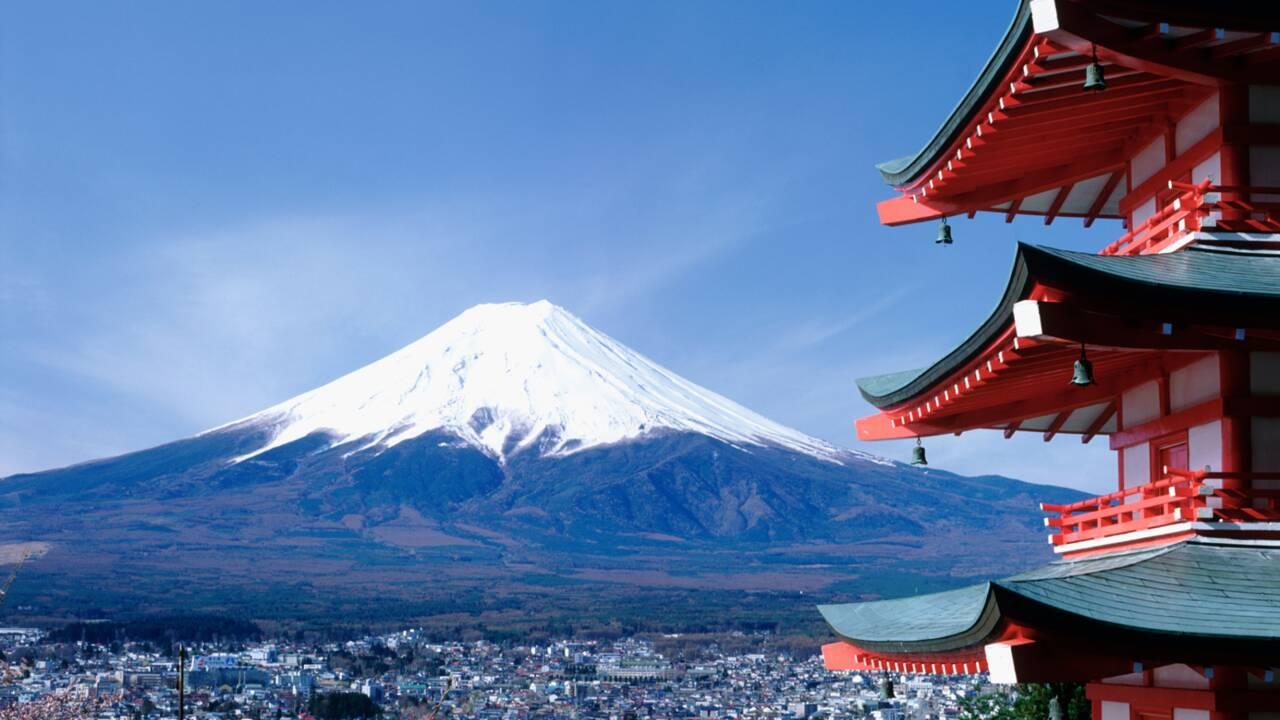 Le mont Fuji, montagne sacrée au Japon