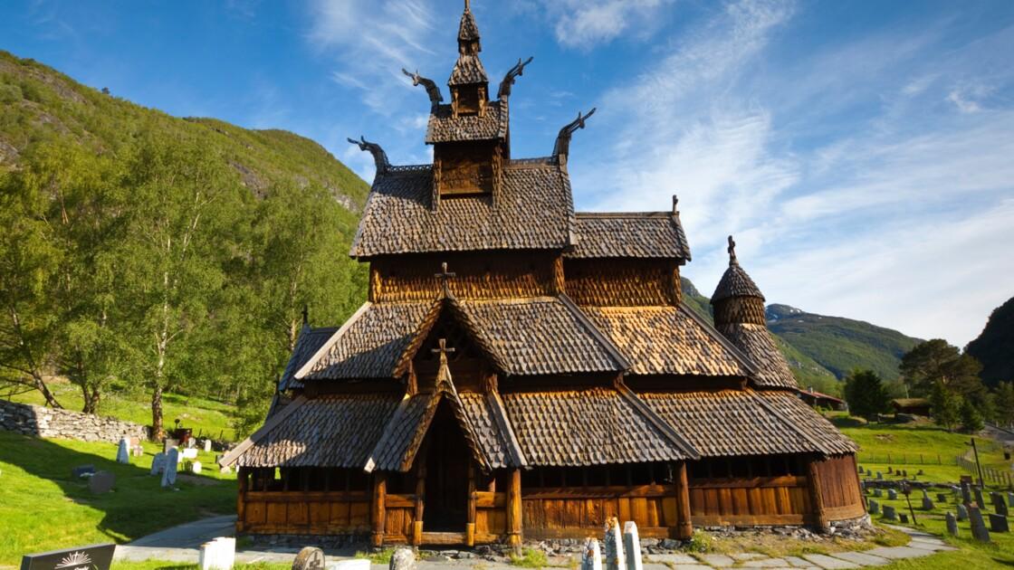 Norvège : l'église en bois debout de Borgund
