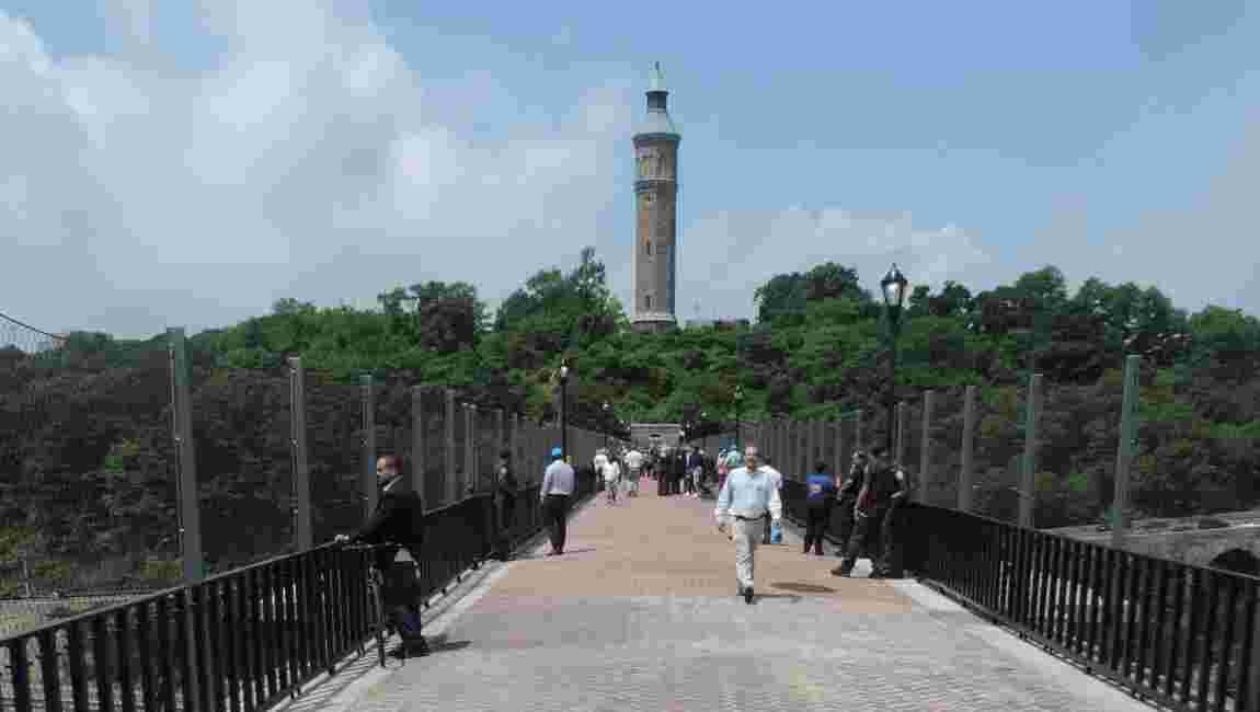 New York : le High Bridge, un pont qui se réveille avec le Bronx