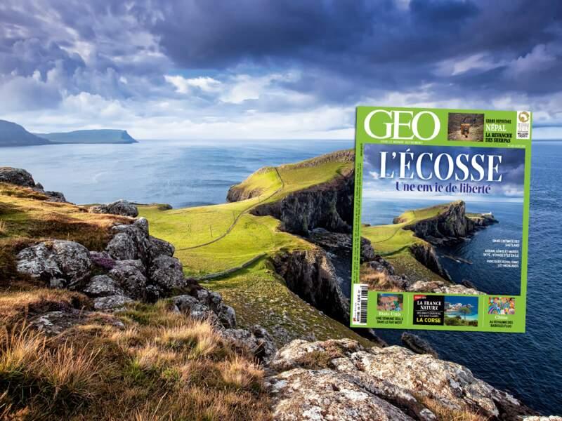 Retrouvez notre grand dossier consacré à l'Ecosse dans le numéro 438 du magazine GEO (août 2015)