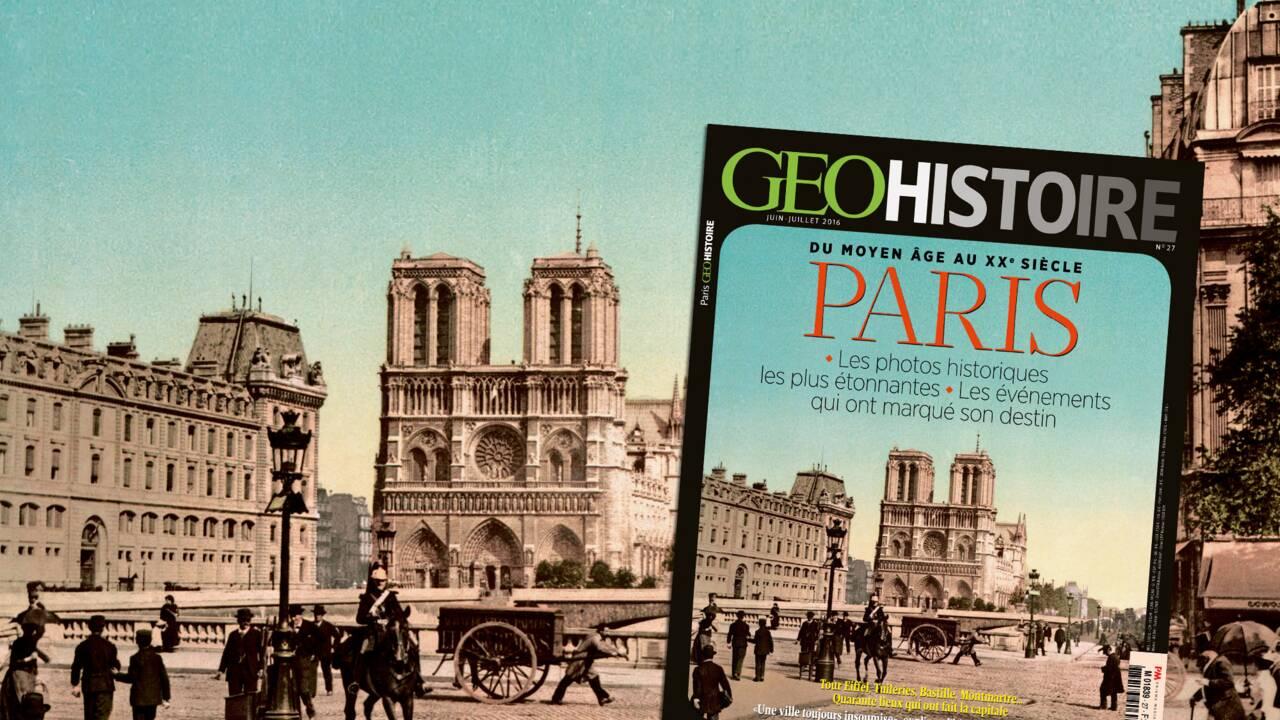 Paris, du Moyen Age au XXe siècle, dans le nouveau GEO Histoire