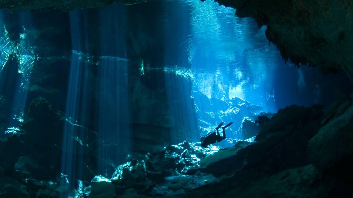 Au Mexique, le Yucatán, site de plongée grandiose