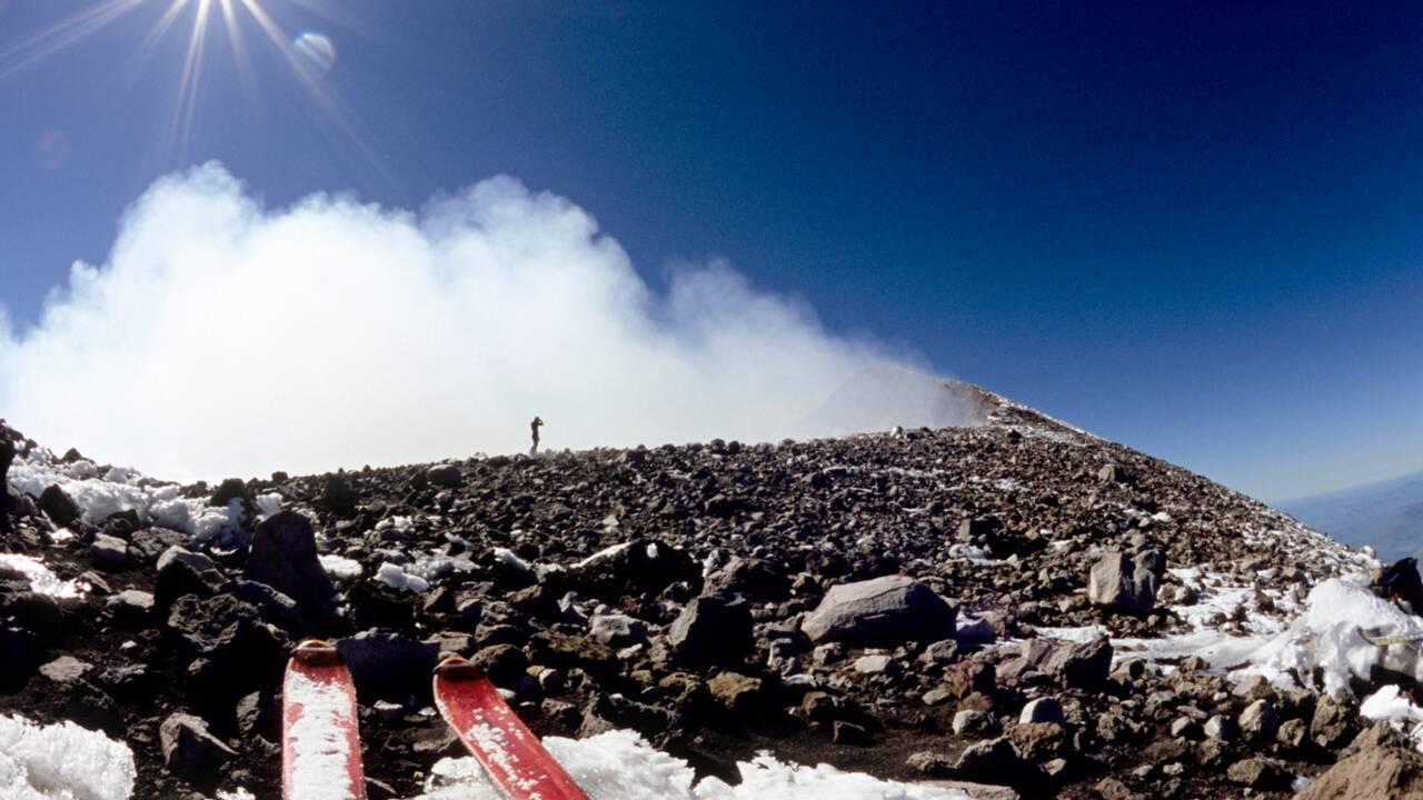Sicile : ski de randonnée au-dessus de l'Etna