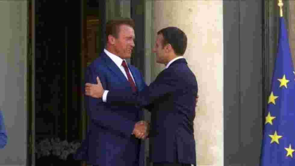 Arnold Schwarzenegger à l'Elysée pour parlerclimat