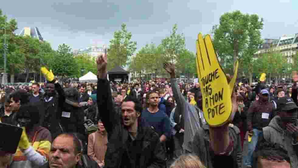 Concert contre le Front National place de la République à Paris
