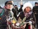 Russie: des centaines de cyclistes à Moscou par -27°C