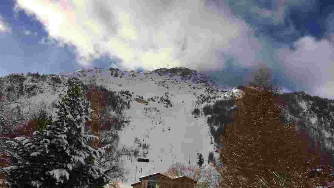 La face de Bellevarde à Val d'Isère, championne des championnats