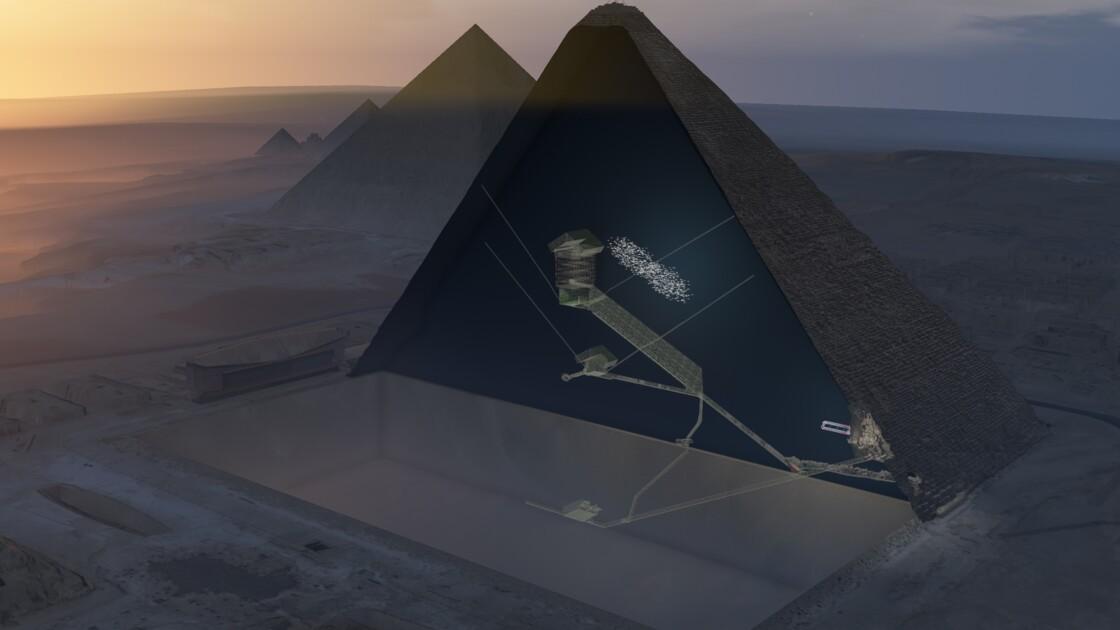 Egypte: une énorme cavité découverte au coeur de la pyramide de Khéops