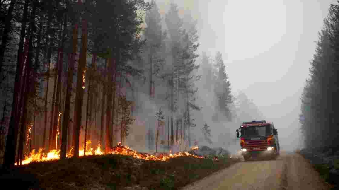 Incendies en Suède: arrivée d'un détachement de militaires français