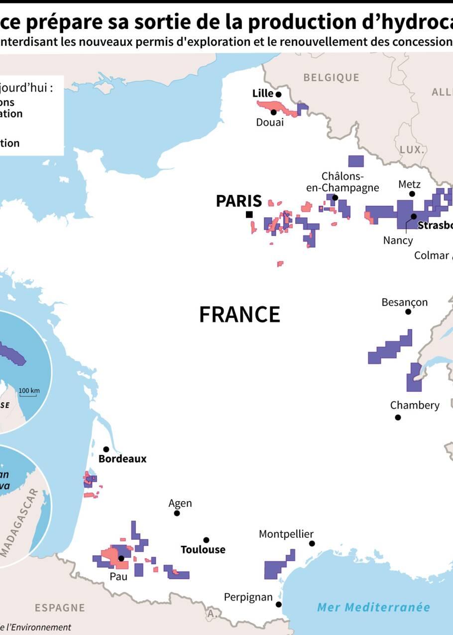La France prépare sa sortie de la production d'hydrocarbures