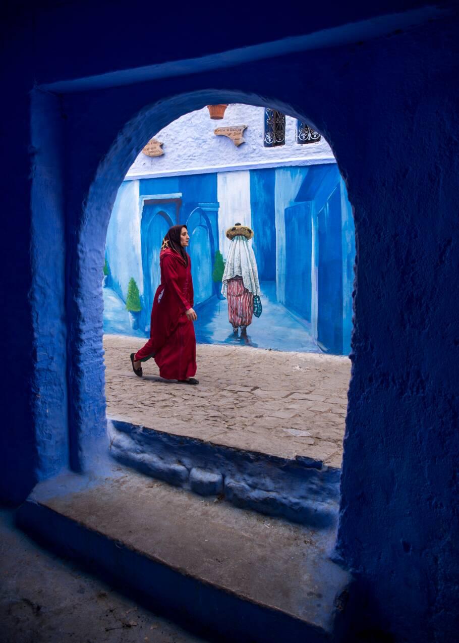 VIDÉO - Au Maroc, Chefchaouen, la ville bleue qui se veut verte