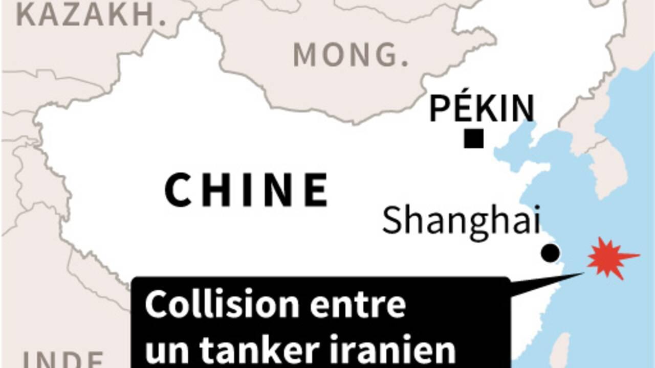 """Pétrolier en feu au large de la Chine: """"risque d'explosion"""""""