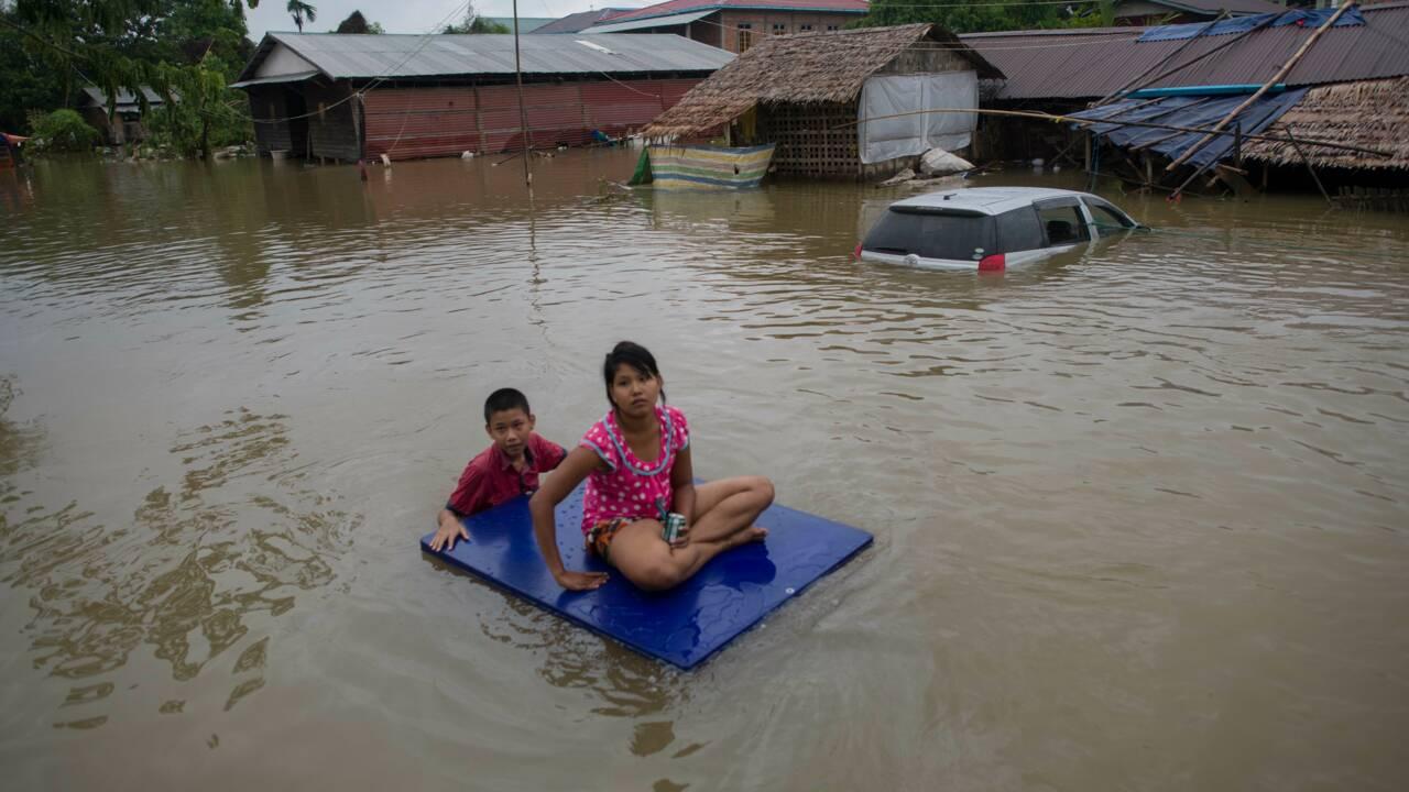 Birmanie : une pagode renommée endommagée par un glissement de terrain