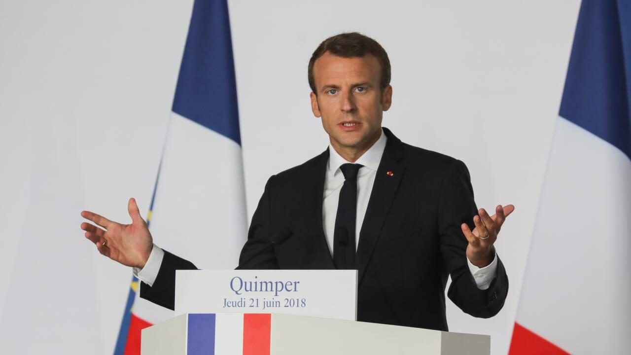 """Macron appelle au """"bon sens"""" pour réformer la loi littoral"""
