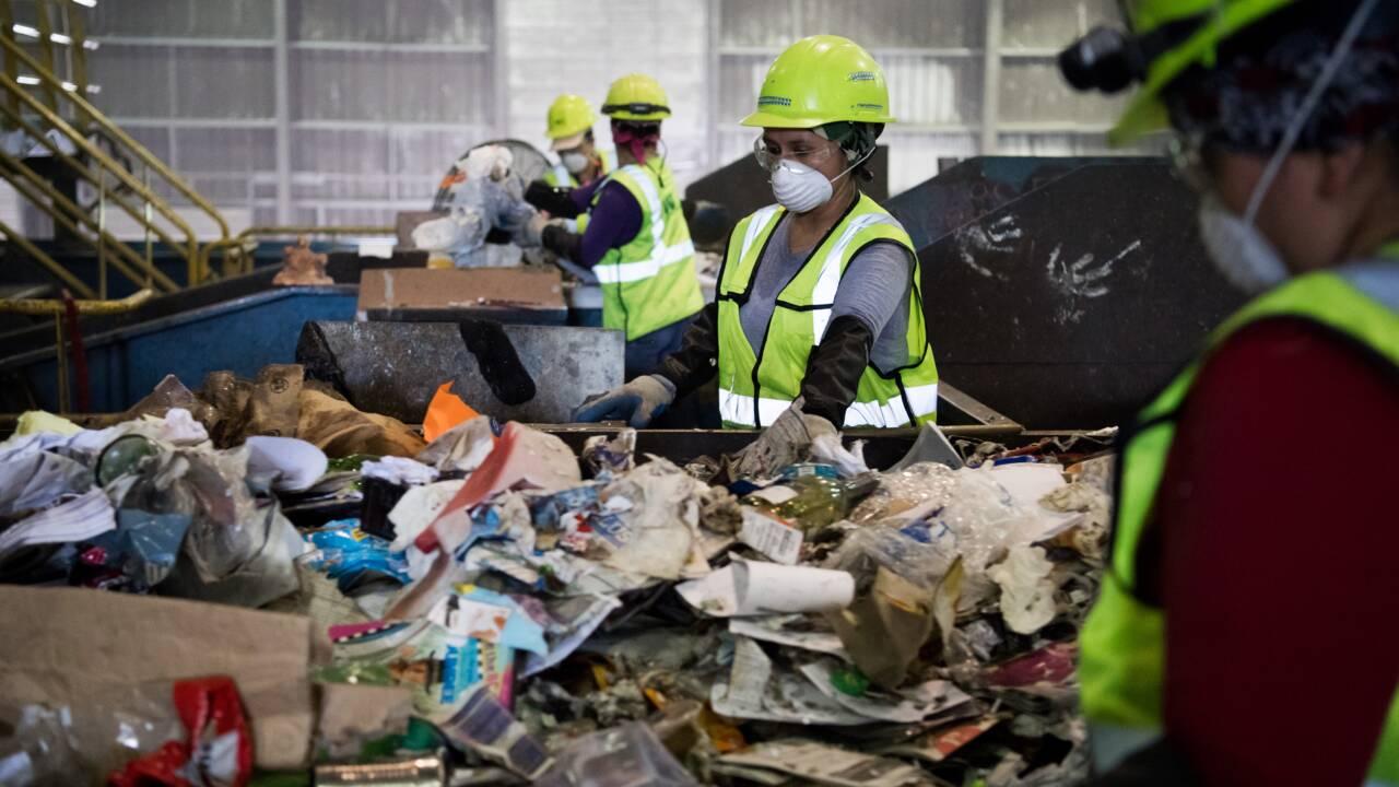 Le recyclage s'entasse aux Etats-Unis car la Chine n'en veut plus