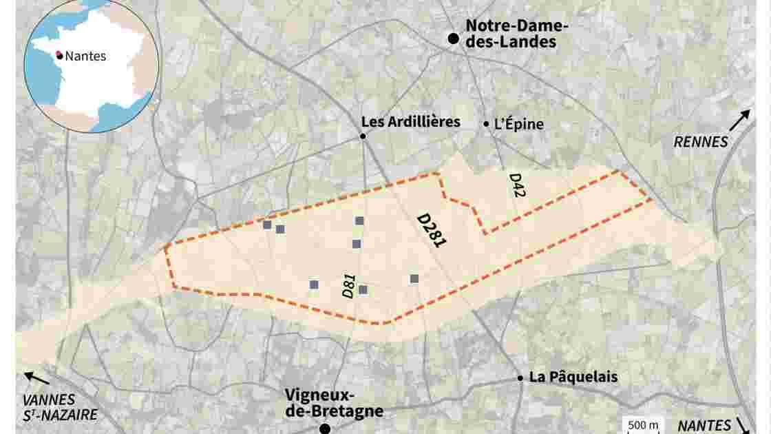 Cartographie de la ZAD de Notre-Dame-des-Landes