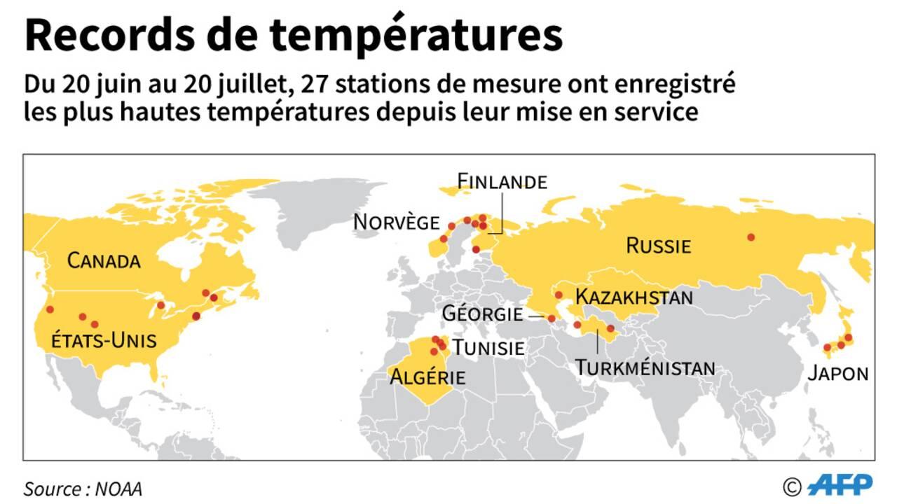 Des records de chaleur dans tout l'hémisphère nord