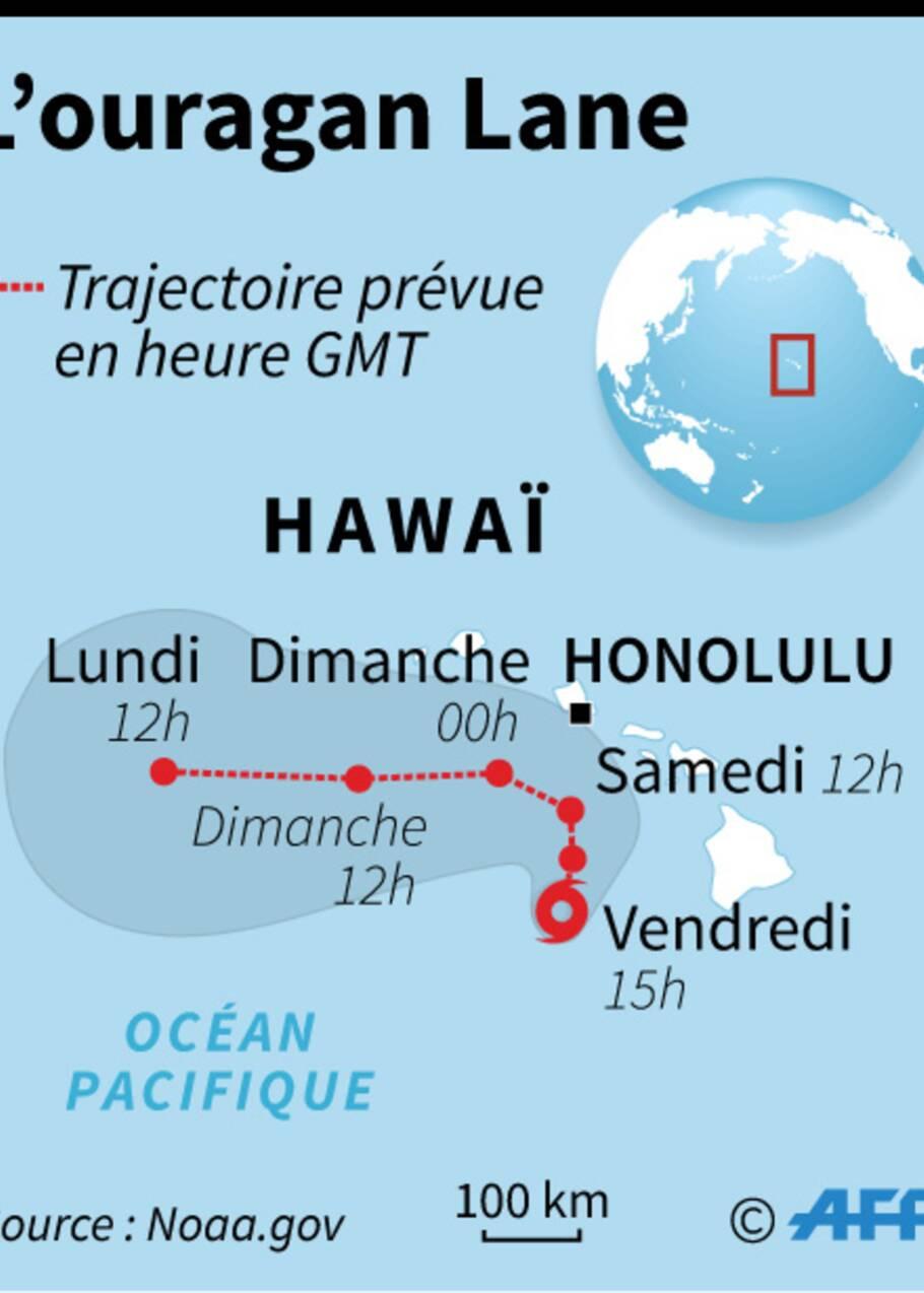 Rétrogradé en tempête tropicale, Lane déverse des trombes d'eau sur Hawaï