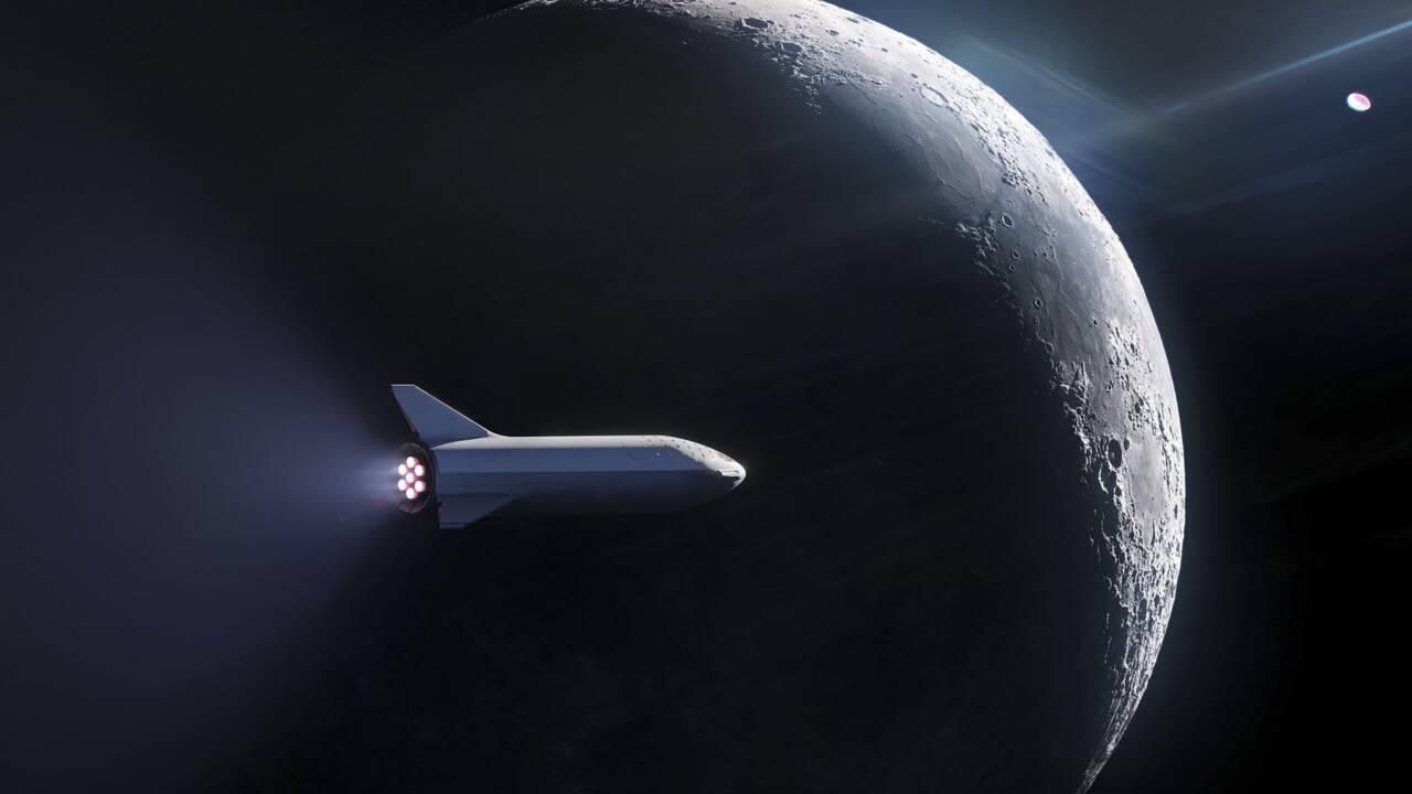 Le milliardaire Yusaku Maezawa, premier touriste lunaire de Space X en 2023, avec des artistes