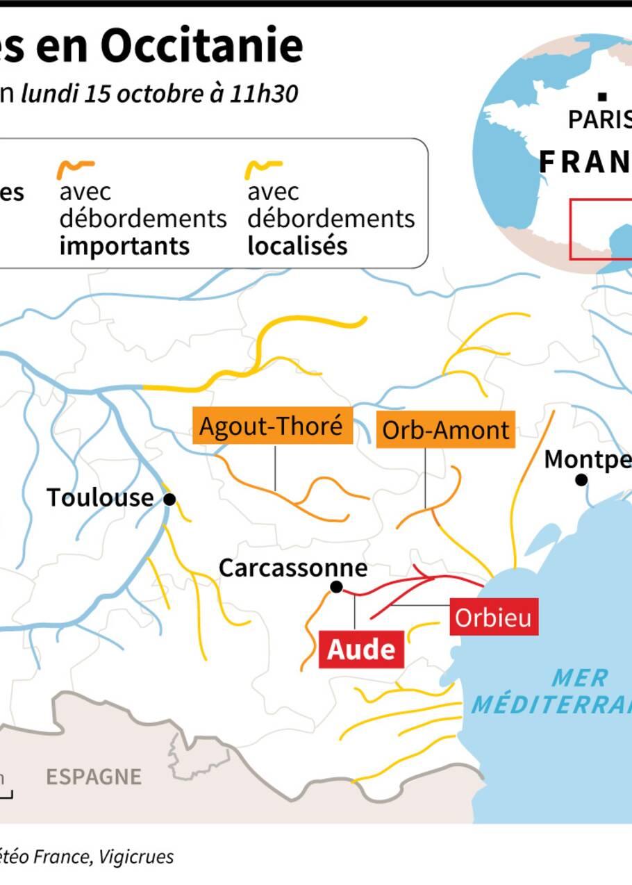 Inondations dans l'Aude : que sait-on des épisodes méditerranéens ?