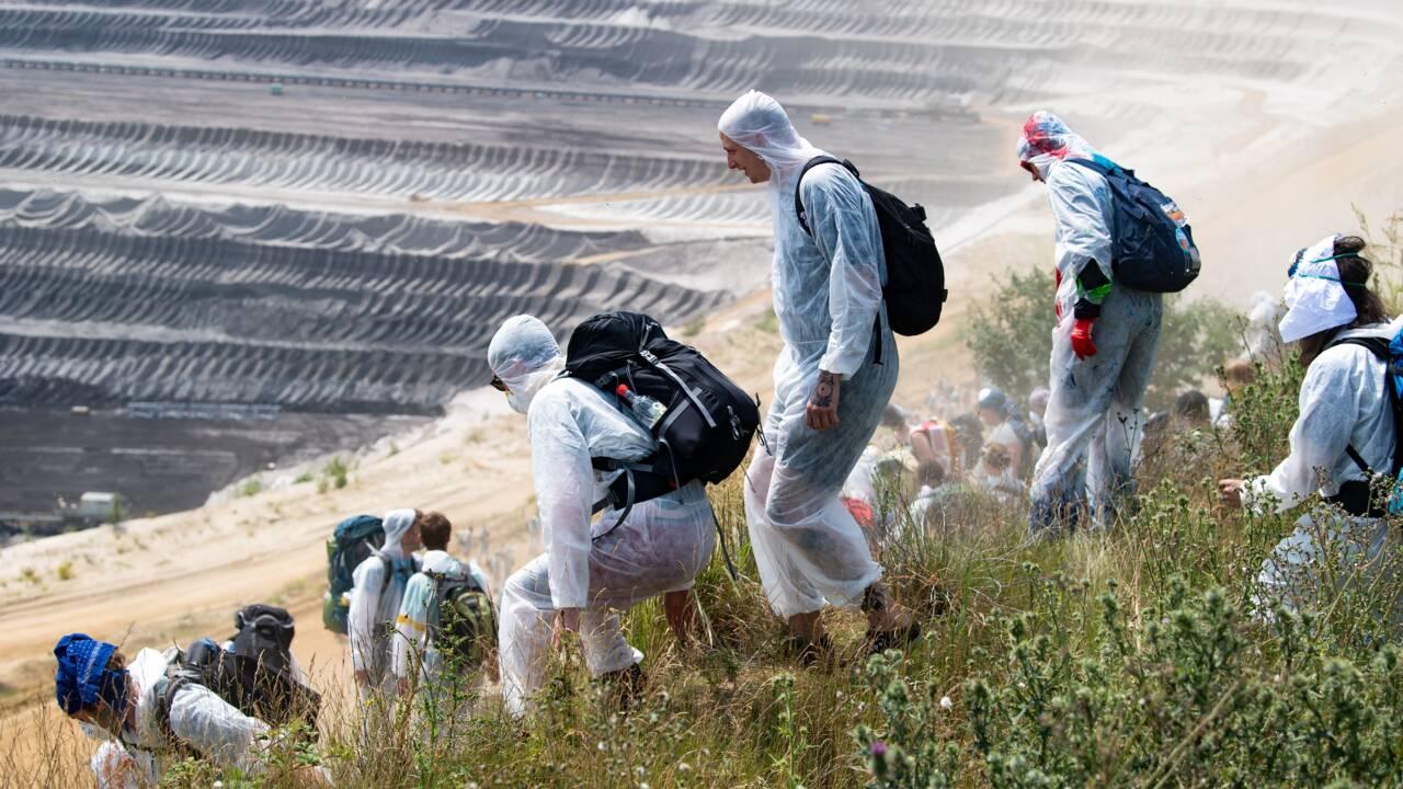 Une mine de charbon allemande occupée par des militants écologistes