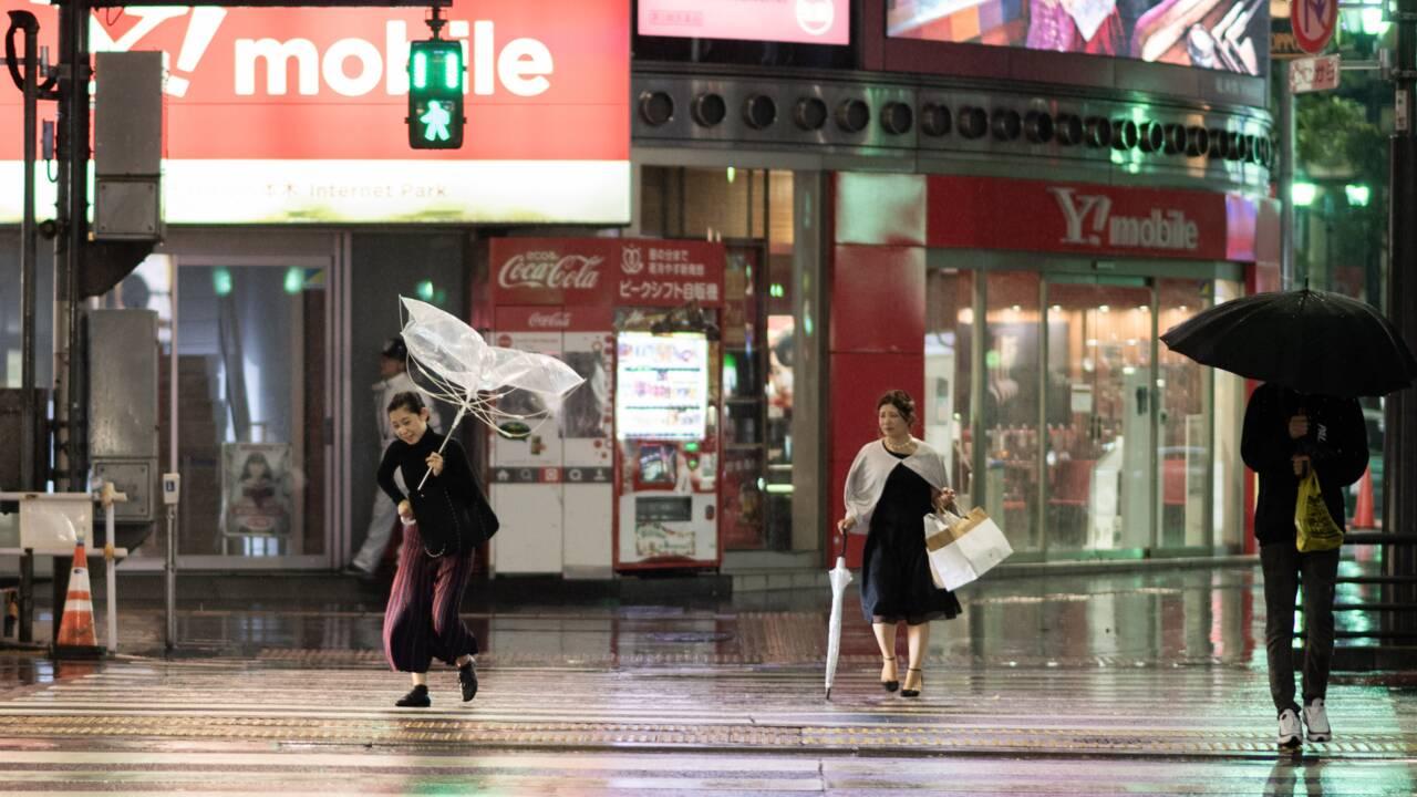 Le cœur du Japon balayé par le typhon Trami