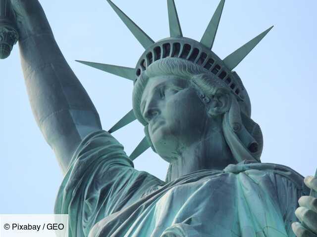 Statue de la liberté Statue of Liberty Vert New York personnage Sculpture Amérique USA