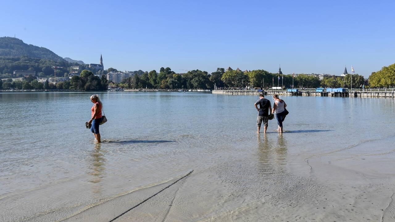 Inquiétudes pour le lac d'Annecy, son niveau en eau au plus bas depuis 70 ans