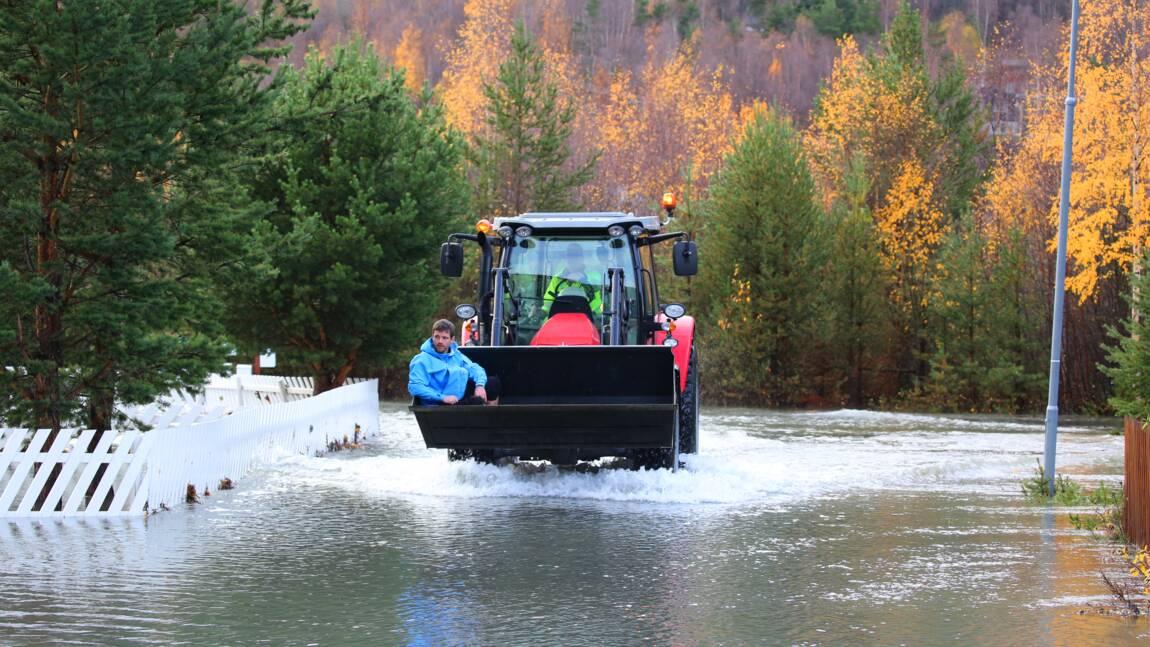 Redoux et inondations en Norvège, des dizaines de personnes évacuées