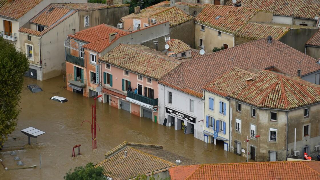 """Inondations dans l'Aude: des dégâts """"de l'ordre de 200 millions d'euros"""", annonce Le Maire"""