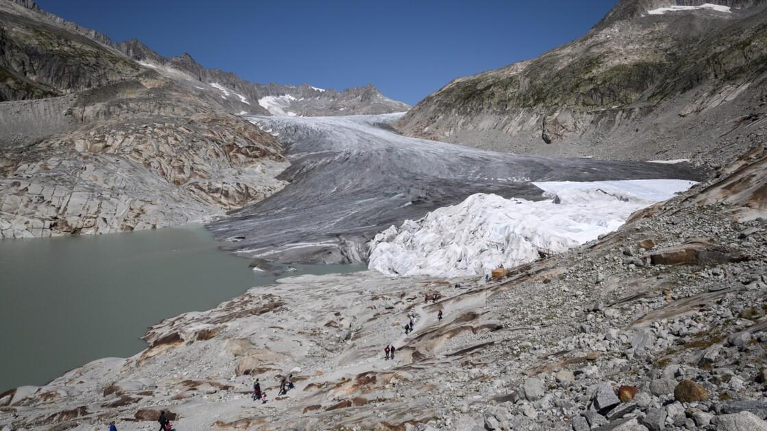 """2018, """"année des extrêmes"""" pour les glaciers suisses qui ont perdu 2,5% de leur volume"""