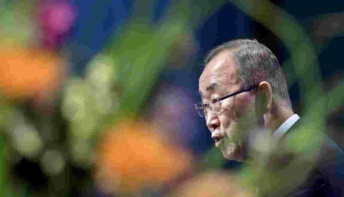 """Climat: le monde a atteint un """"point de non retour"""" déclare Ban Ki-moon"""