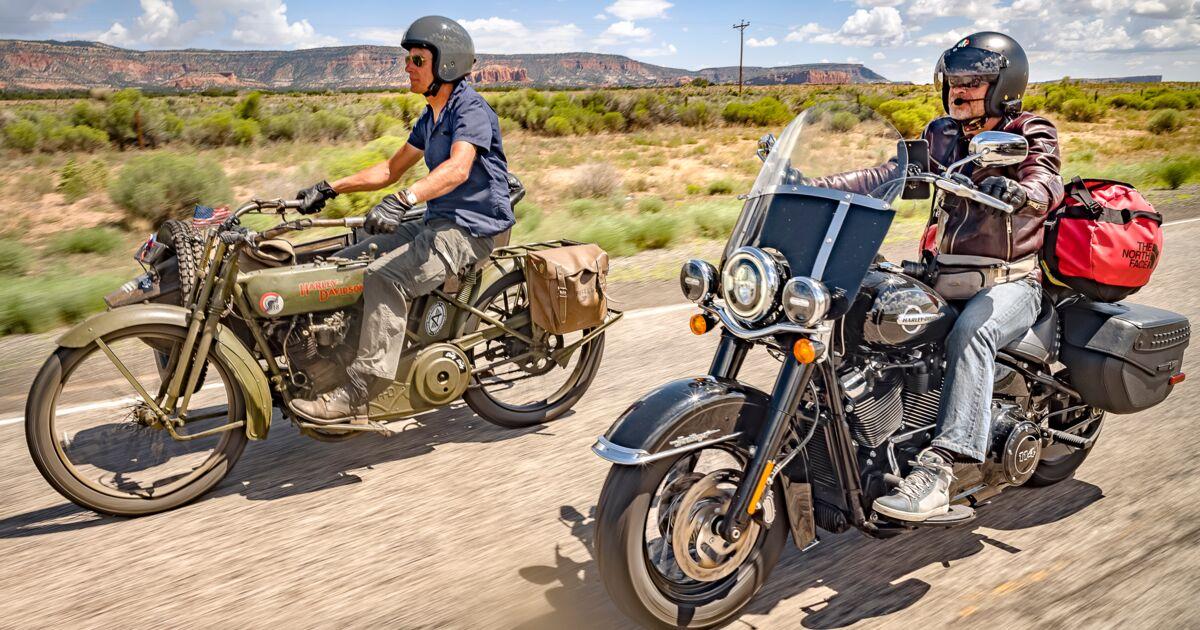 Ils ressuscitent une Harley de 1918 et la ramènent sur la Route 66