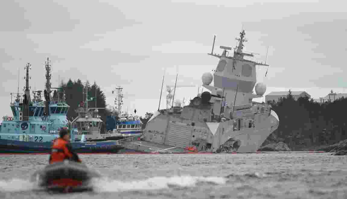Une frégate menace de couler après une collision en Norvège