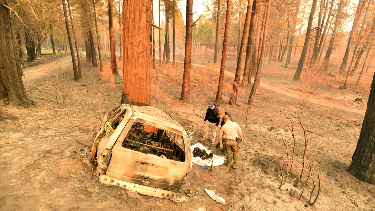 Dans la Californie en flammes, la macabre récolte des hommes du shérif