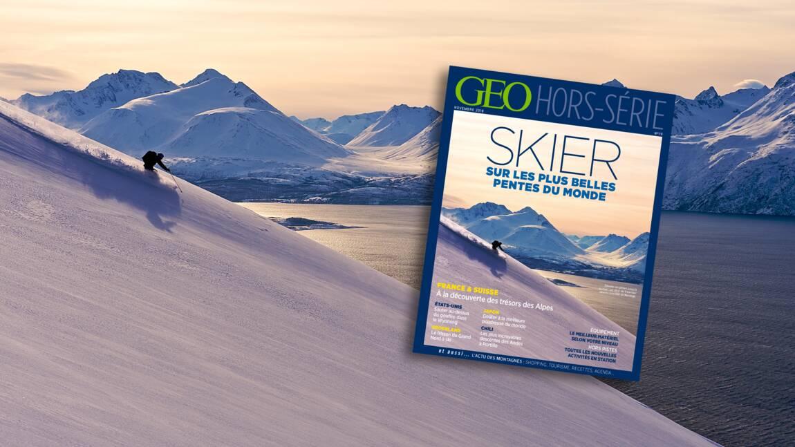 Du ski sur les plus belles pentes du monde dans le nouveau hors-série GEO