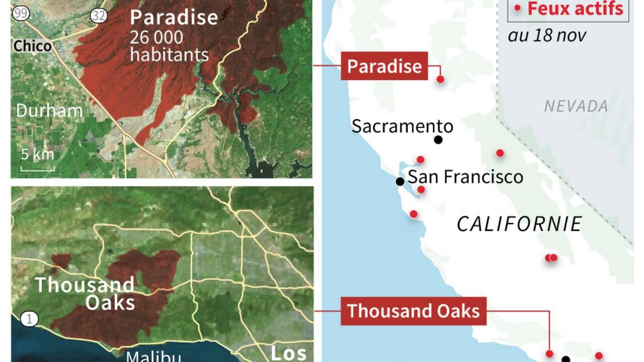 Incendies: la Californie en deuil après un bilan de 77 morts